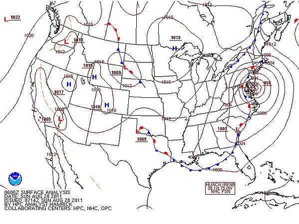 Isopleth Weather Map