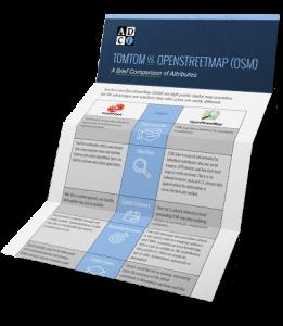 TomTom vs. OpenStreetMap (OSM) Infographic